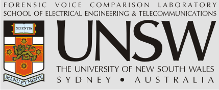 Forensic Voice Comparison Laboratory - School of Electrical Engineering & Telecommunications - University of New South Wales